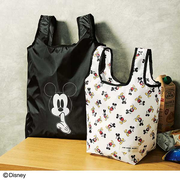 「MICKEY MOUSE[ミッキーマウス]produced by JAM HOME MADE[ジャムホームメイド]エコバッグ2個セット」【12月24日(木)発売予定】『smart』2021年2月号付録