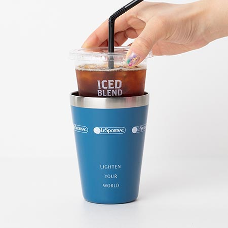 MM『LESPORTSAC COLLECTION BOOK CUP COFFEE TUMBLER/NAVY』