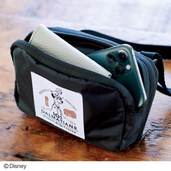 101匹わんちゃんデザイン エコバッグに変身するショルダーバッグ