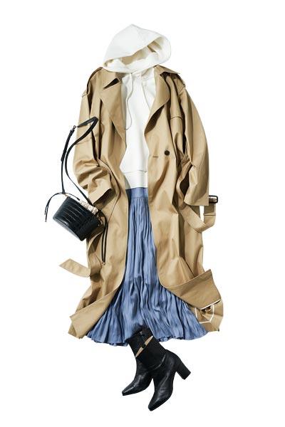 プリーツスカートは最強ボトム! オンオフ使えて春から秋まで万能! 最旬コーデを披露